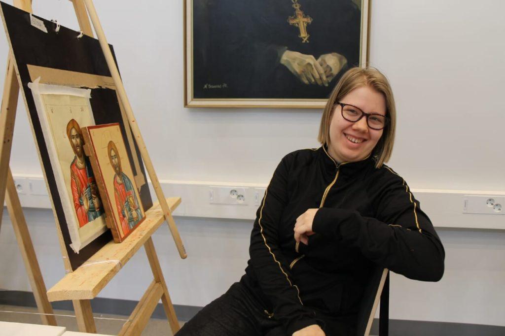 Opiskelija Helena Penttinen. Kuvan on ottanut Markus Hänninen.
